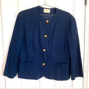 Vintage Pendleton Blue Wool Blazer Jacket
